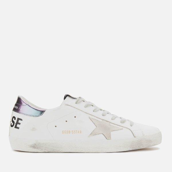 小脏鞋  White Leather/Golden Goose Printed