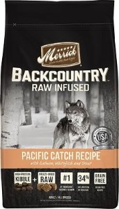Merrick Backcountry Raw Infused Pacific Catch Recipe with Salmon, Whitefish & Trout Grain-Free Dry Dog Food