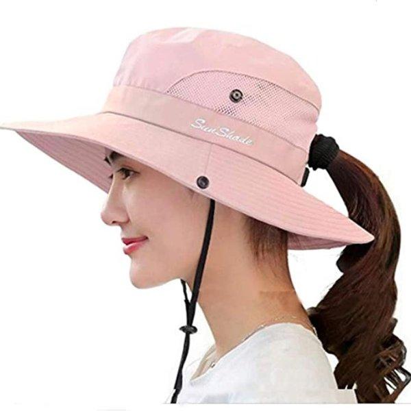 防紫外线宽边户外防晒帽