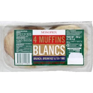 monoprixmuffins面包