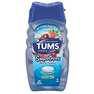 Amazon.com: Tums Smoothies Antacid Chewable Tablets, Berry Fusion - 60 Count: Health & Personal Care
