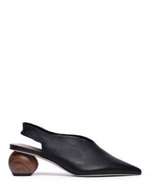 WES - SLINGBACK POINTED EGG HEEL PUMPS | PUMPS