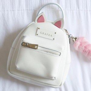 £97.5GRAFEA WOMEN'S MINI ZIPPY KITTY BACKPACK WHITE