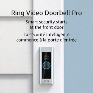 $204.99(原价$299.99)Ring Pro 1080P全高清WiFi智能门铃 高清视频 动态报警 守护安全