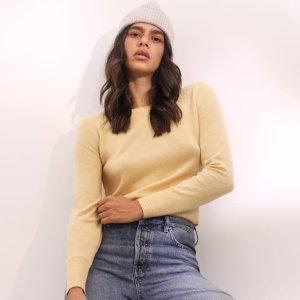 一律$106 男女款、长短袖全即将截止:Everlane官网 100%纯A级羊绒衫一口价