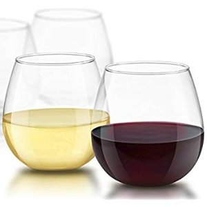 Amazon.com | JoyJolt Spirits Stemless Wine Glasses 15 Ounce, Set of 4 Great For White Or Red Wine Mother's Day Wine Gifts Wines Glass Sets: Wine Glasses