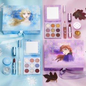 8折收大热IP联名Colourpop Frozen 2 系列上新 收elsa、安娜姐妹套装