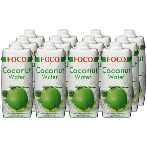 12瓶x500ml 仅售€22FOCO 纯净椰子水 健康解渴饮料 做椰子鸡也能用哦