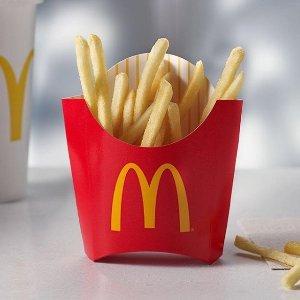 仅限安省 为猛龙队加油限今天:Mcdonald's 麦当劳免费请你吃中号薯条啦 庆祝猛龙拿下第一场