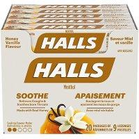 Halls 香草蜂蜜润喉糖 9颗x20包