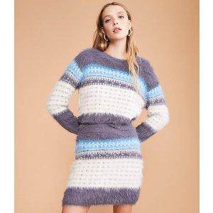 LOU & GREYFuzzed Fairisle Sweater