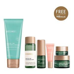BIOSSANCE5-piece $48 ValueSqualane + Zinc Sheer Mineral Sunscreen
