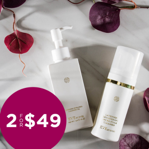 Last Day: 2/$49 ($96 Value) Lavender Cleansing Oil & Micro-foam Cleanser Sale @ Eve by Eve's