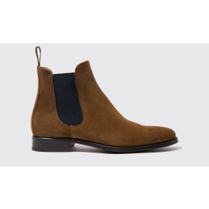 Scarosso男式 Chelsea 皮靴