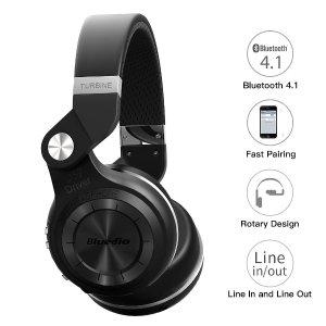 $27.19 (原价$33.99)闪购:Bluedio T2S 蓝弦专业版 无线蓝牙头戴式耳机 可折叠