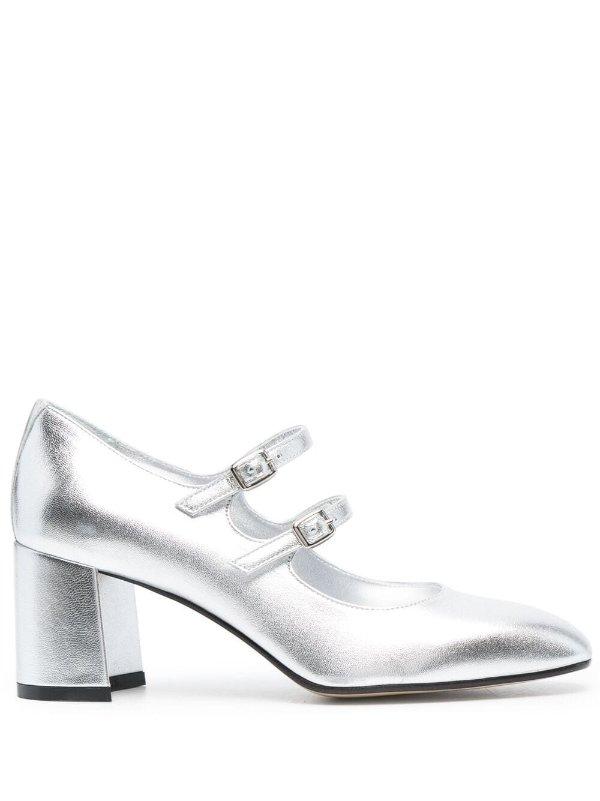 银白玛丽珍鞋