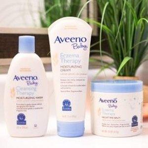 送赠品+满AU$39包税免邮中国Aveeno 洗护低至6.7折热卖中,收婴儿洗发沐浴水、润肤露