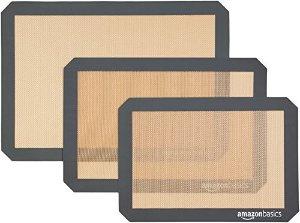 $10.49 包邮AmazonBasics烘焙专用硅胶垫 3件