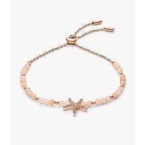 Fossil玫瑰金海星手链