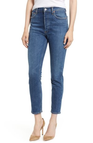 AGOLDE Nico High Waist Crop Slim Fit Jeans (Subdued)   Nordstrom