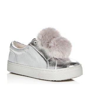 9dce368c7d3 Sam Edelman Women s Calexa Stretch Booties. Women s Leya Metallic Faux Fur  Pom-Pom Slip-On Sneakers