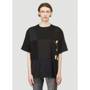 X Sembl Patchwork T-Shirt in Black