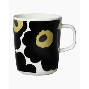 马克杯 2,5dl - white, black - All home items - Home - Marimekko.com