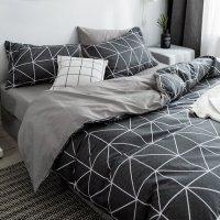 Bejirog 【自营】北极绒简约款全棉四件套纯棉床单被套床笠款被罩床上用品
