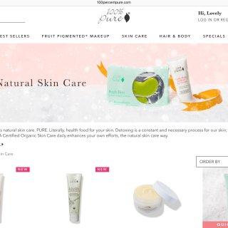源于大自然最美好的馈赠,让100% Pure天然有机产品温柔呵护你的肌肤