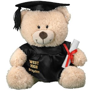 """$13.98 + Free Personalization11"""" Cap and Gown Bear @ 800 Bear"""