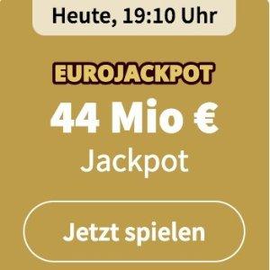 周五开奖 奖金累计4400万欧元EUROJACKPOT 3注只要€2 没有手续费 单车秒变摩托
