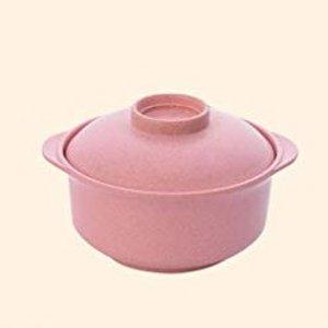 配锅盖 14x7.5x6.5cmBomcomi 日式砂锅 - 粉色