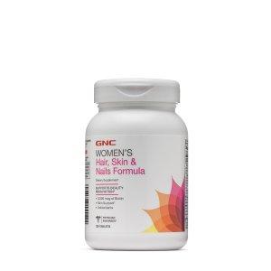 GNC女性复合维生素,指甲、头发、皮肤健康