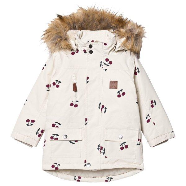 儿童樱桃图案滑雪外套