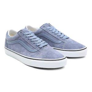 Vans雾霾蓝麂皮平底鞋
