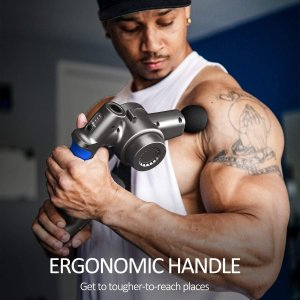 $124.99(原价$149.99)RENPHO 深层肌肉放松筋膜枪/按摩枪 6按摩头+4档变速