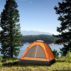 2-Person Dome Tent- Rain Fly & Carry Bag- Easy Set Up-Great for Camping, Backpacking, Hiking & Outdoor Music Festivals by