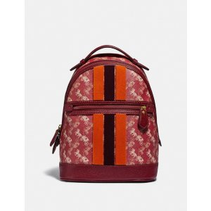 CoachLunar New Year Barrow Backpack With Horse and Carriage Print and Varsity Stripe