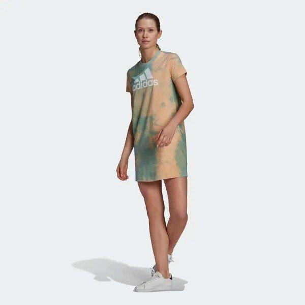 扎染T恤裙