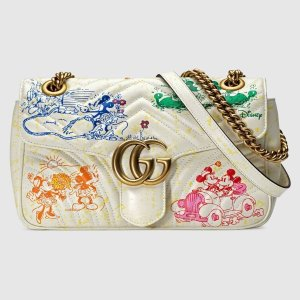 Gucci- Online Exclusive Disney xGG Marmont small shoulder bag