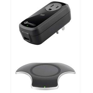 $15.00Monoprice Qi 10w快充无线充电板+Qi 认证旅行快充充电器