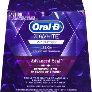 5折起+订阅9折Oral B 白牙护齿专场 3D 炫白牙贴$19