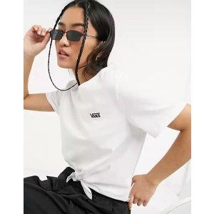 VansJunior V knot T-shirt in white