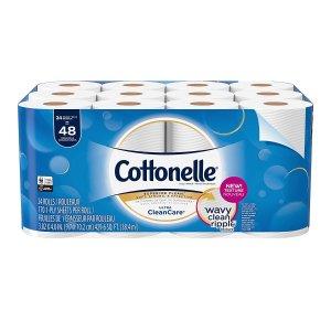 $9.99  (原价$20.99)Cottonelle 超洁净双层卫生纸 24卷