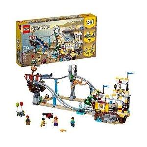6.2折 仅$55.97 (原价$89.99)史低价:LEGO乐高 Creator 3合1系列 海盗过山车31084,3种搭建方式