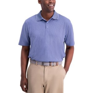 HaggarCool 18® Houndstooth Polo Shirt