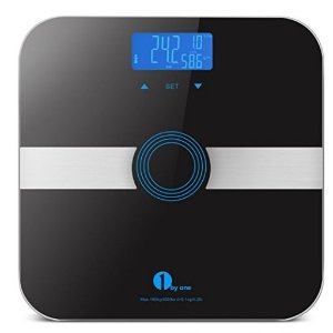 $18.391byone Body Fat Scale Body Scale Bathroom Scale with Tempered Glass, 180kg/400lb Weight Capacity, 10 Users Auto Recognition, Measures Weight, Body Fat, Water, Muscle, Calorie and BMI, Black