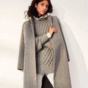 3折起 £20收驼色大衣上新:H&M 秋冬新款羽绒服、羊绒大衣专场 保暖又穿出潮流范