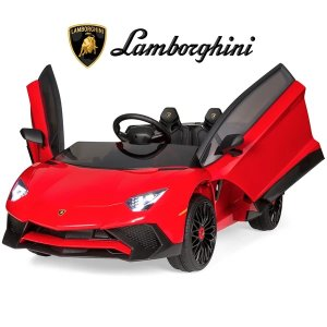 Best Choice Productscode: MOONLAMBO12V Kids Ride-On Lamborghini Aventador SV Sports Car Toy w/ Parent Control