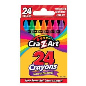白菜价:Cra-Z-Art 24色蜡笔